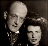 Theo Laanen with his wife Anna Helena Marinus (1942)